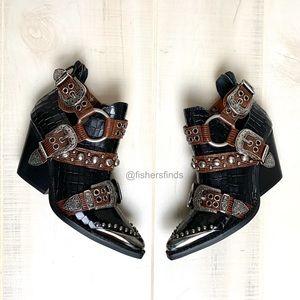Jeffrey Campbell Adora Western Studded Boots 6 NIB